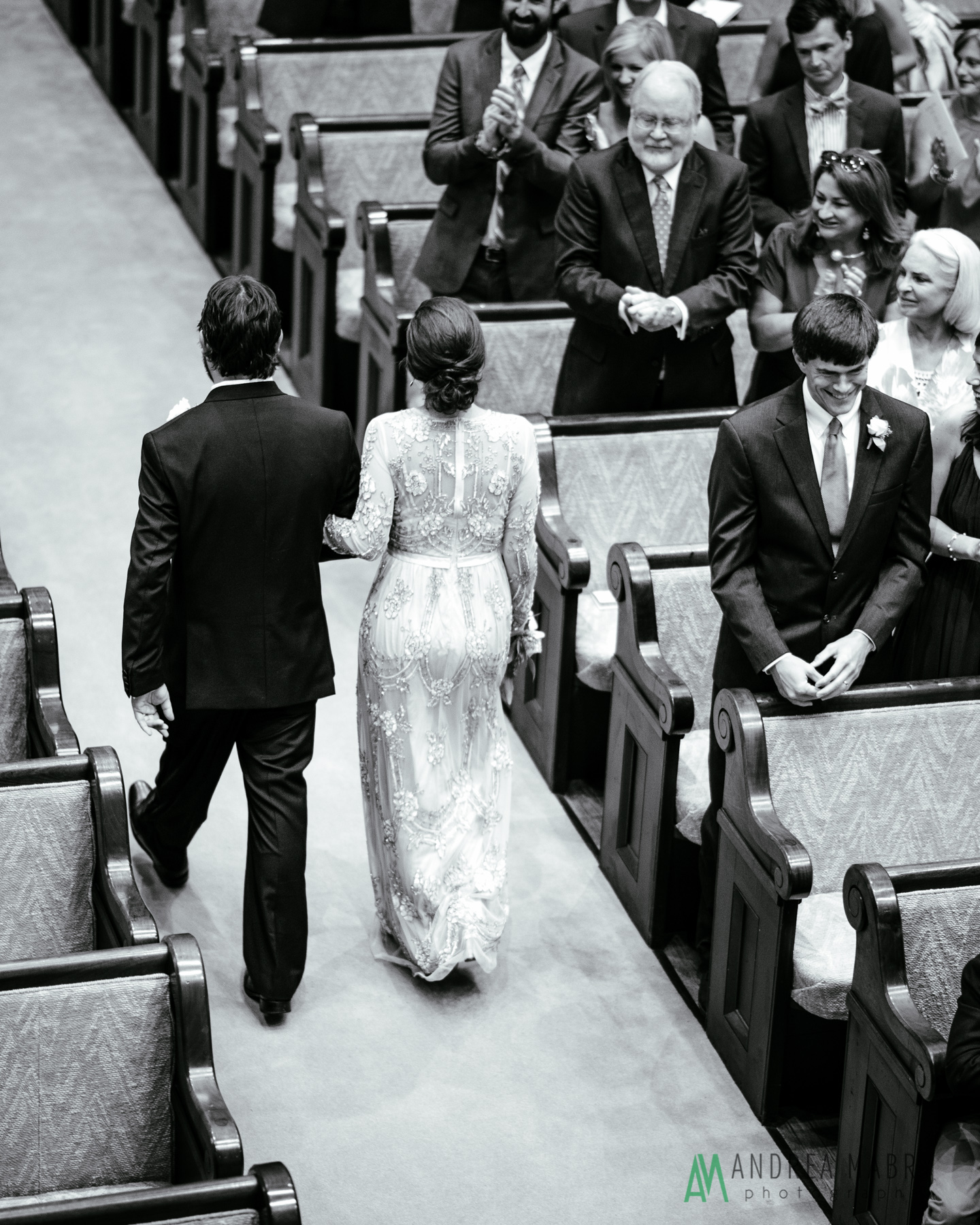 Government Street Presbyterian Church Mobile Wedding. Andrea Mabry Photography.