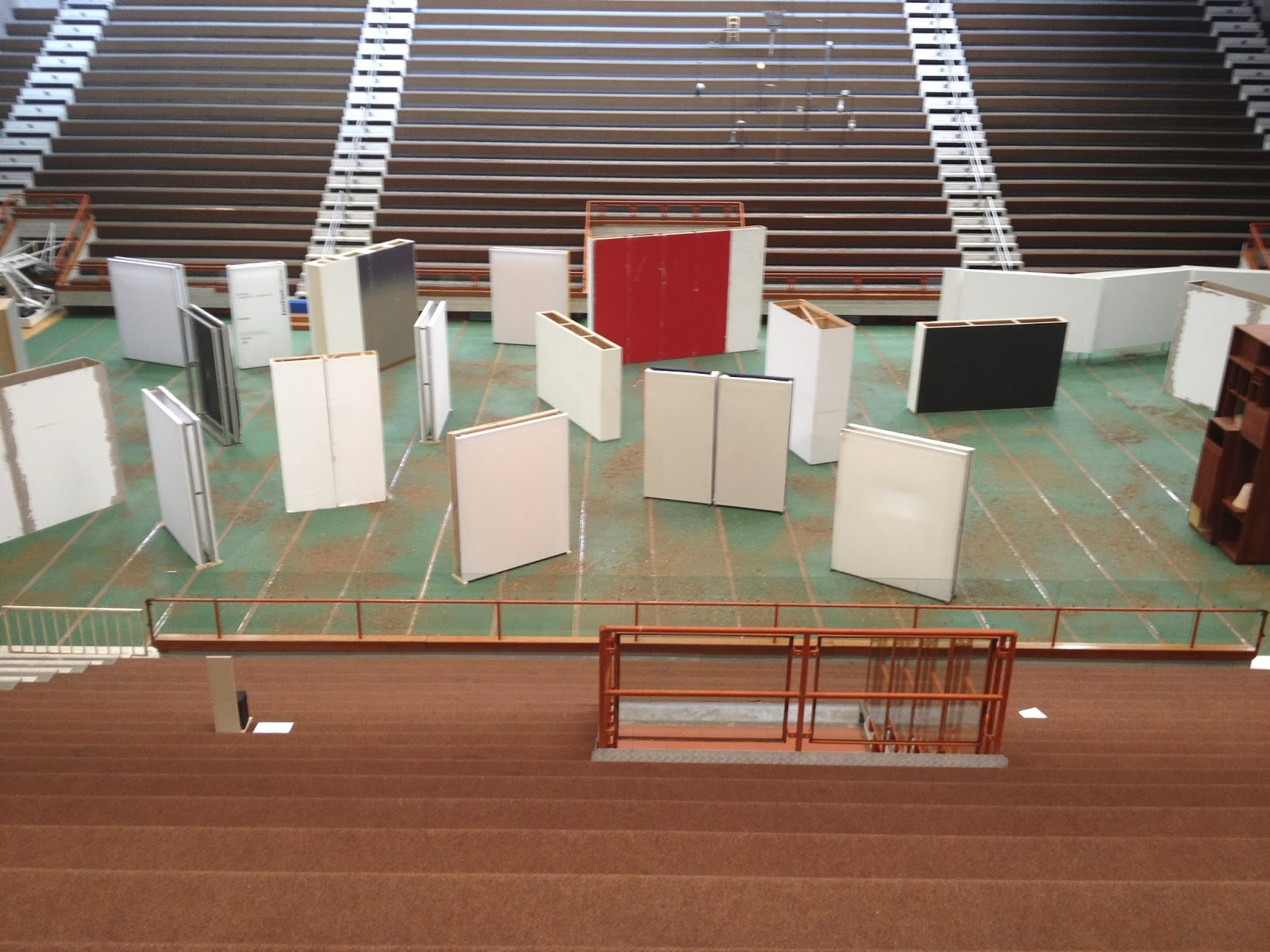 Installation view, the Lithuania and Cyprus pavilion at the 55th Venice Biennale