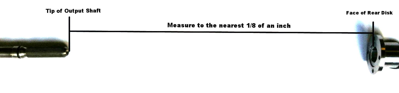 Measurement: Tip of Output Shaft to Flange Face