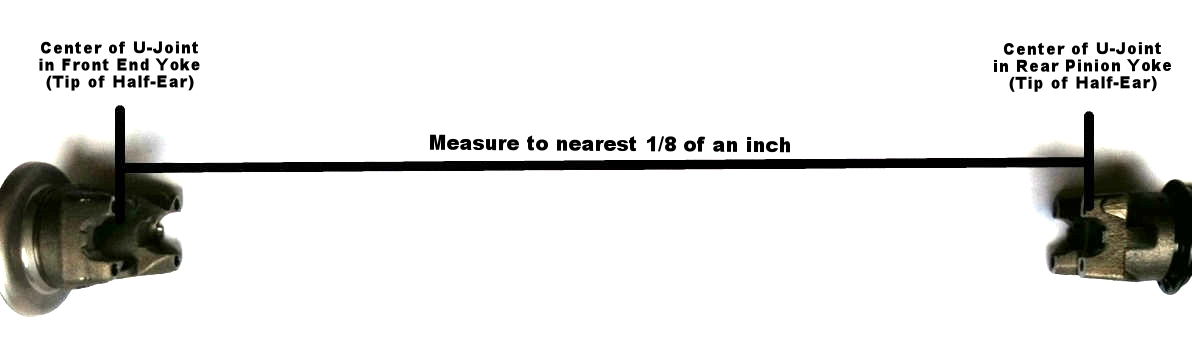 Measurement: Center of U-Joint to Center of U-Joint