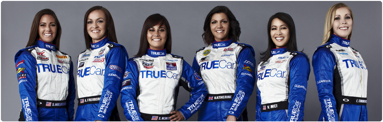 TrueCar Racing Team print and video campaign