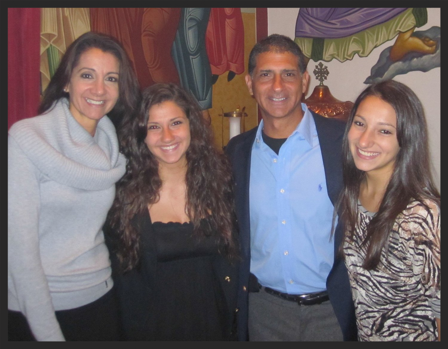 Joelynne, with daughters Sophia and Irene and husband Steve