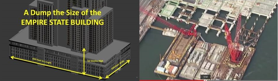 The Marine Transfer Station will have the footprint of the Empire State Building and be 10 stories tall.