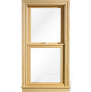Beautiful wood interior with a vinyl clad exterior makes this window give you the warmth of wood on the inside and the maintenance free thick heavy extruded vinyl exterior.  Value with looks.