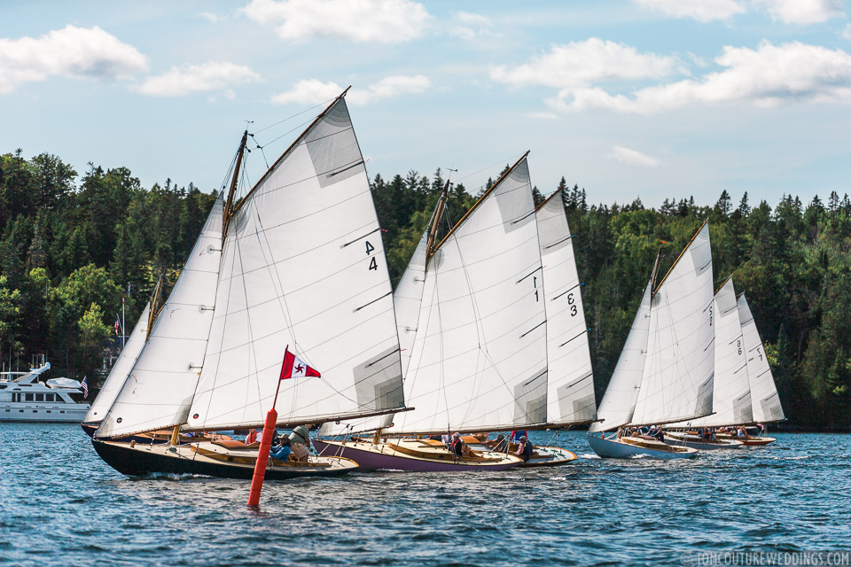 There's quite a history when it comes to the Knockabout sailboats that I won't go into but I will note that they were all built in 1906.Nick and Tom (Nicole's Dad) got to race on number 2, aka 'Whippet'.