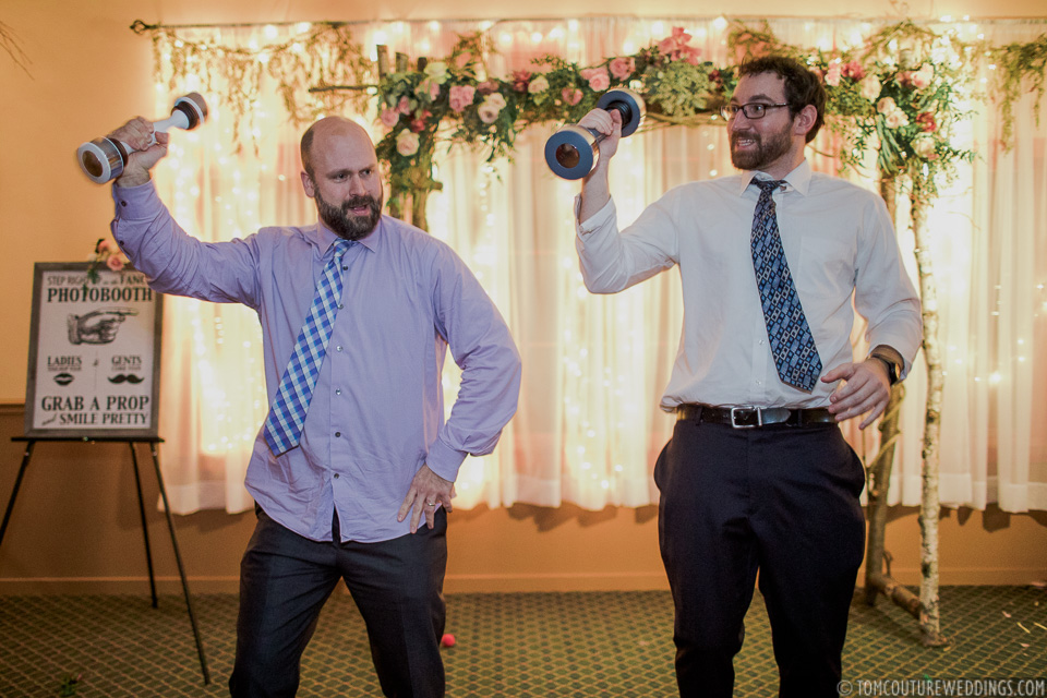 I'm not sure who brought the shakeweights but they were an instant hit!