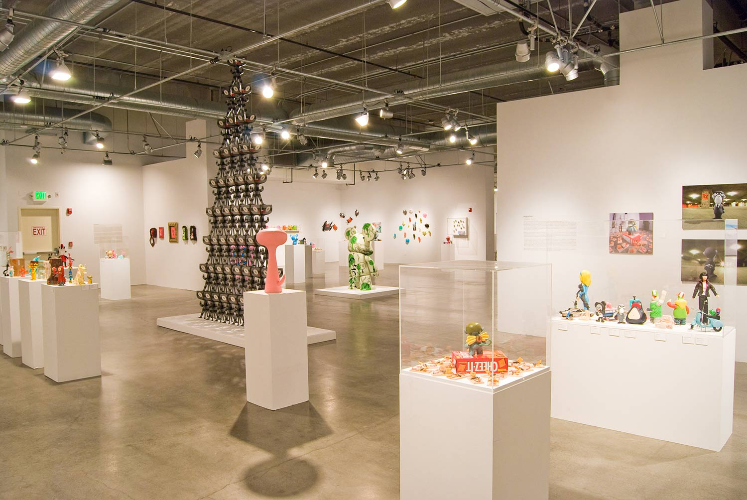 INSTALLATION VIEW: THE SOUTHEAST CORNER OF THE PMCA MAIN GALLERY
