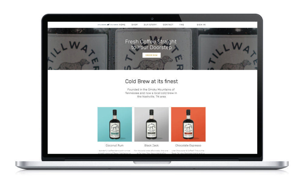 Stillwater Cold Brew Website Design