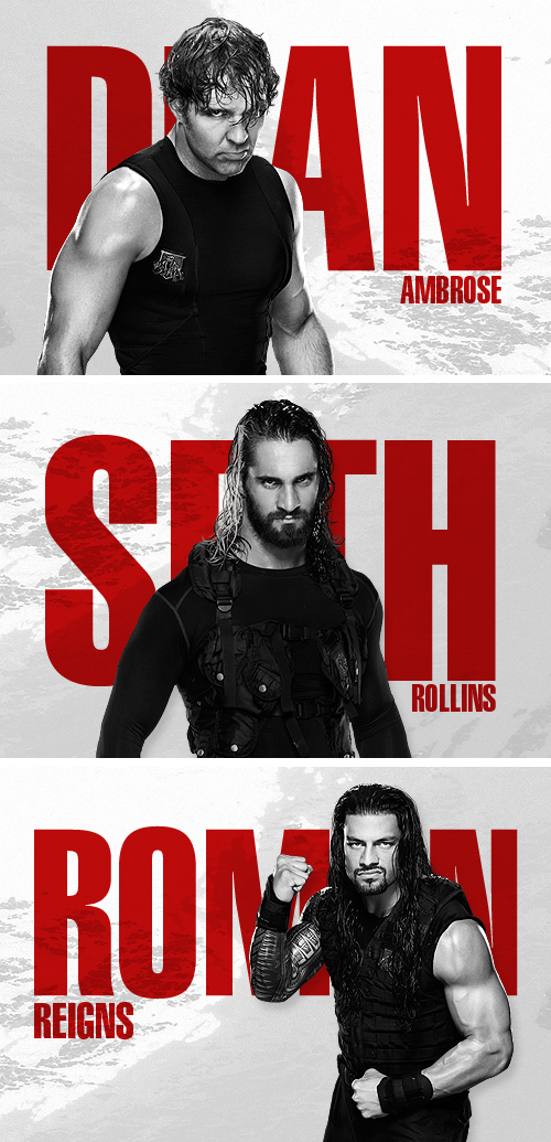 Personal design of The Shield, a past tag team of the WWE