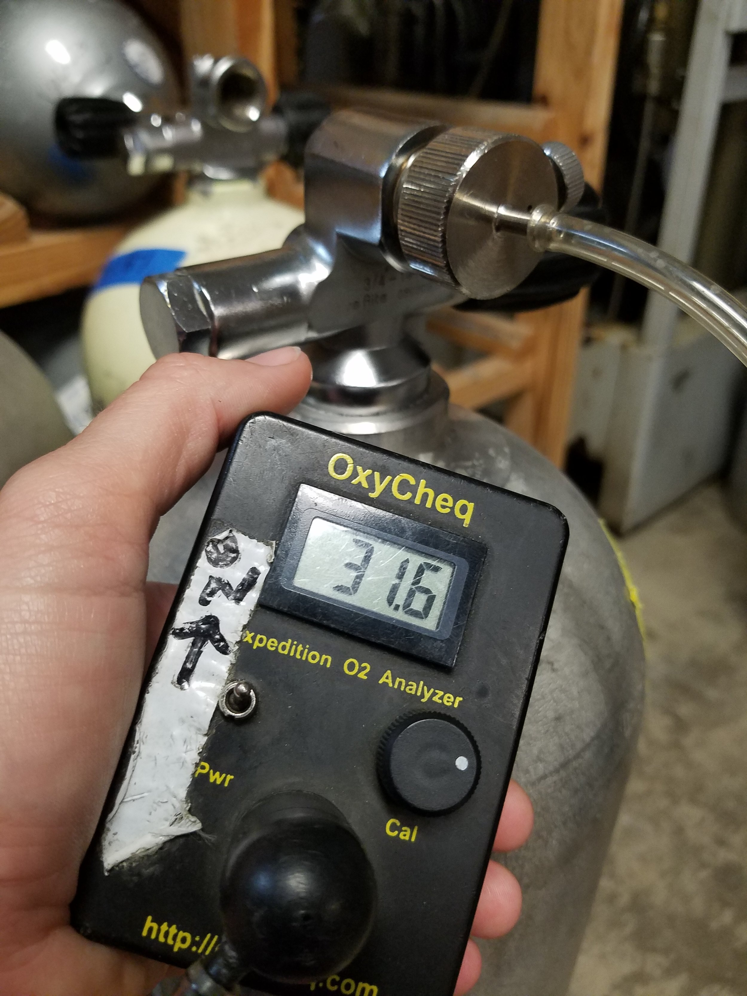 Every professional dive shop I've been to has a nitrox analyzer available for use and every professional shop I've been to has a helium analyzer as well if they are supplying trimix.