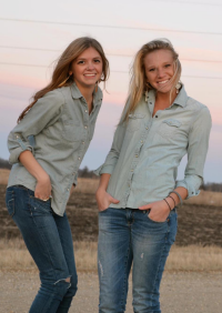 Here's us as baby twins back in 2012! #Denim