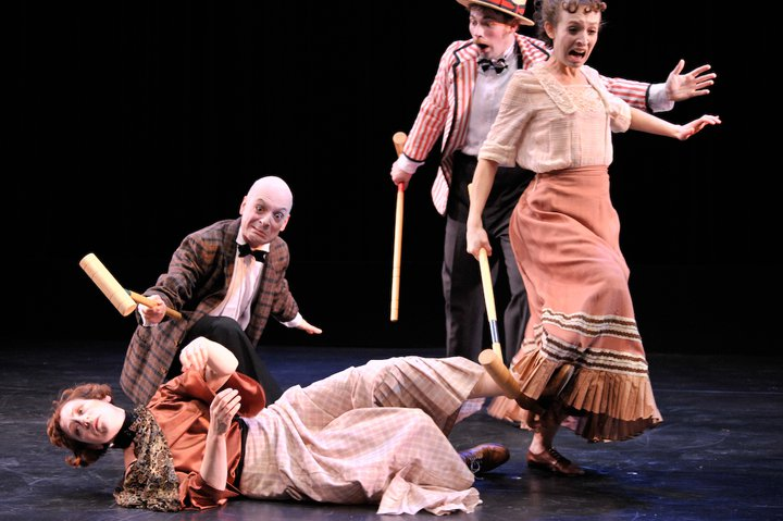 The croquet match in Cabaret Macabre by Happenstance Theater