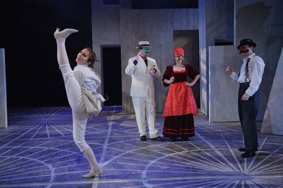 Ophelia goes mad in Hamlecchino by Faction of Fools