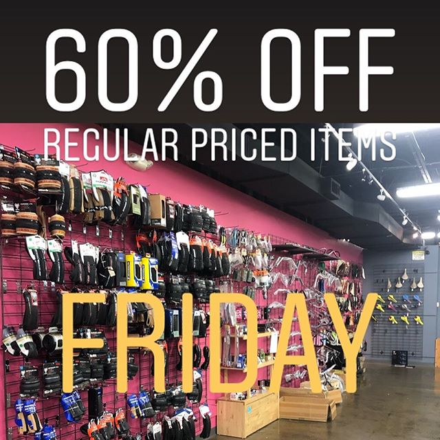 Garage sale starts today!  60% off all regular priced parts and accessories. Deep discounts on select items, remaining bicycles, and frame sets are priced as marked! 11am - 7pm today #storeclosingsale
