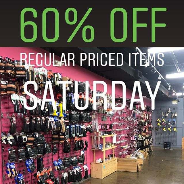Garage sale madness continues today!  60% off all regular priced parts and accessories. Deep discounts on select items, remaining bicycles, and frame sets are priced as marked! 11am - 6pm today #storeclosingsale