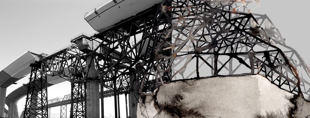 Hughen/Starkweather,  Traverse 1  (from the Bay Bridge Project), 10hx20w inches, archival pigment print, edition of 3, 2012