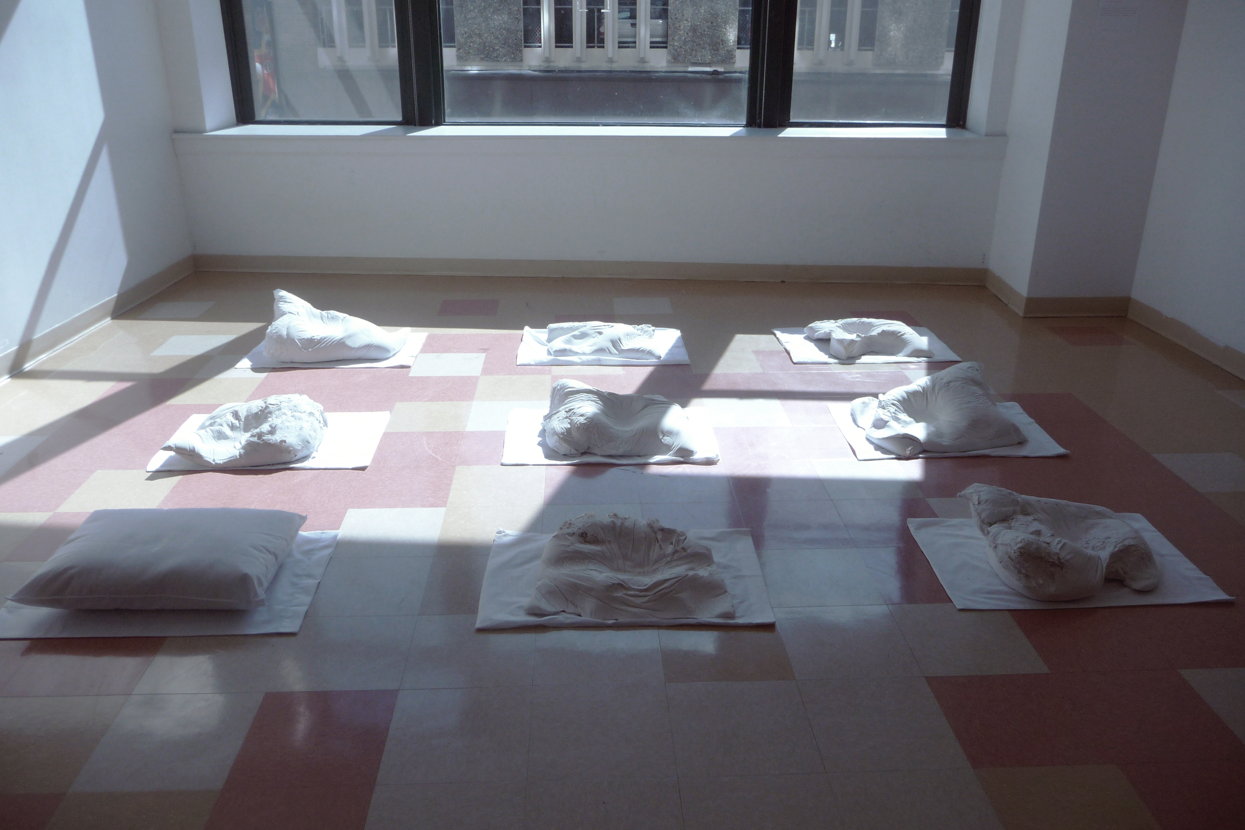 He is Present: I'm Sure of It,  Plaster, Pillows, Pillow Cases. 2012.