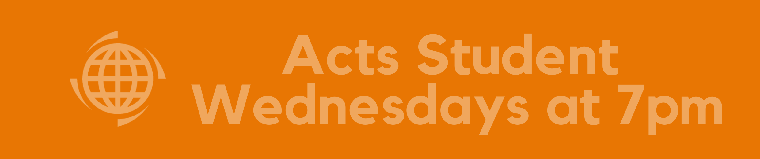 Acts Student time banner