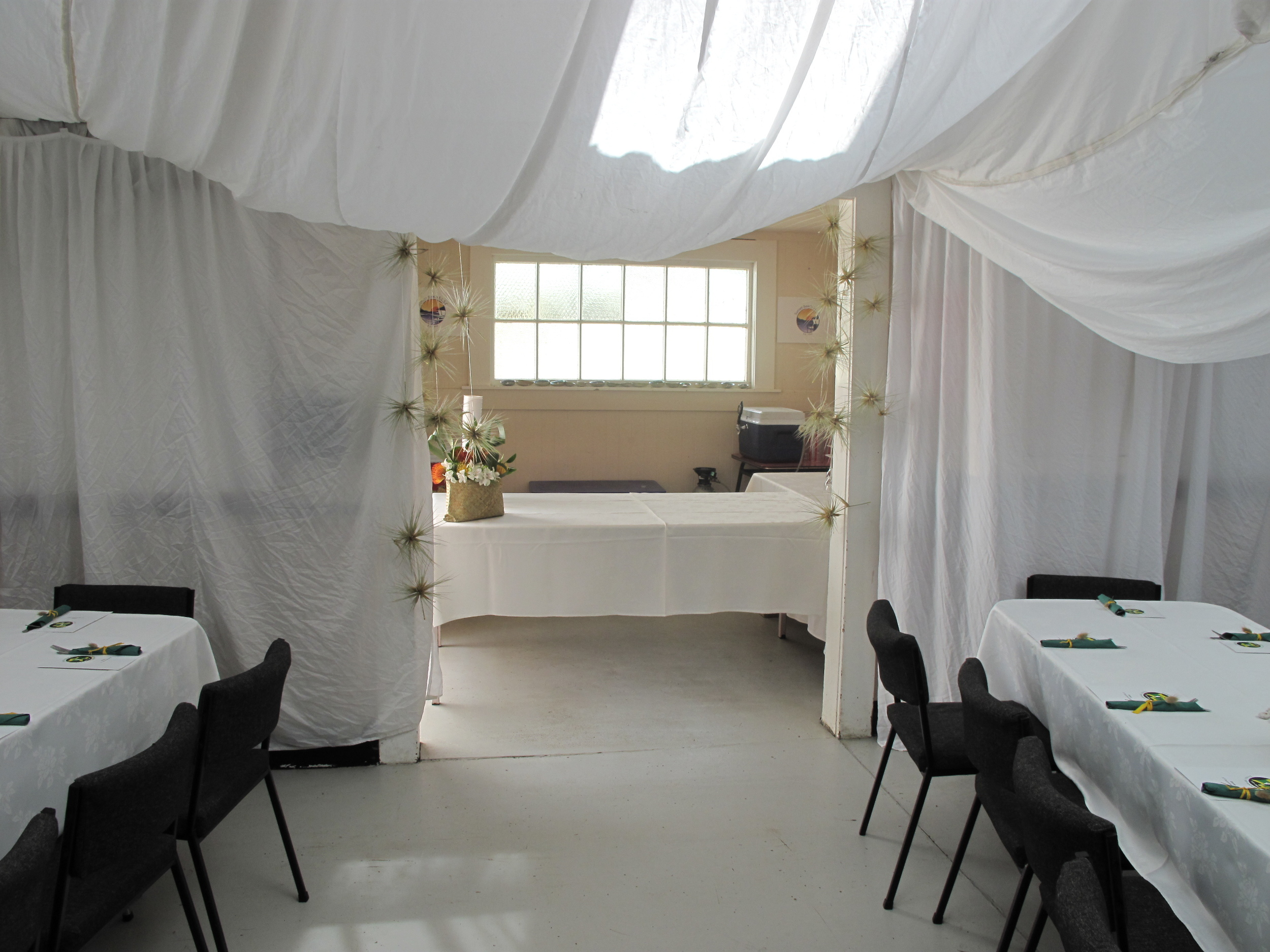 Local hire companies can supply items for your even. The local community hall is also able to hire tables and chairs.