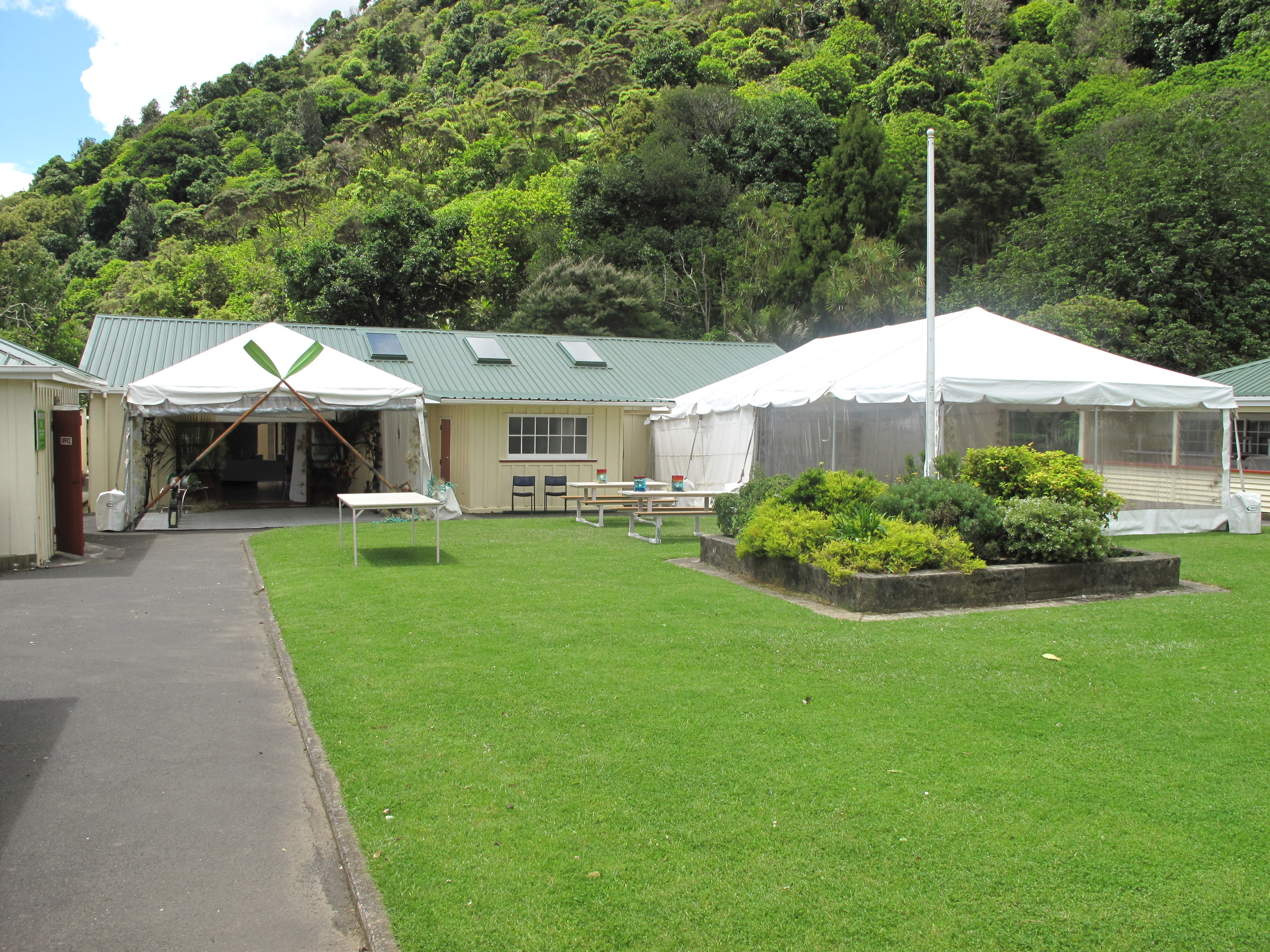 Marquees are permitted with prior arrangement.