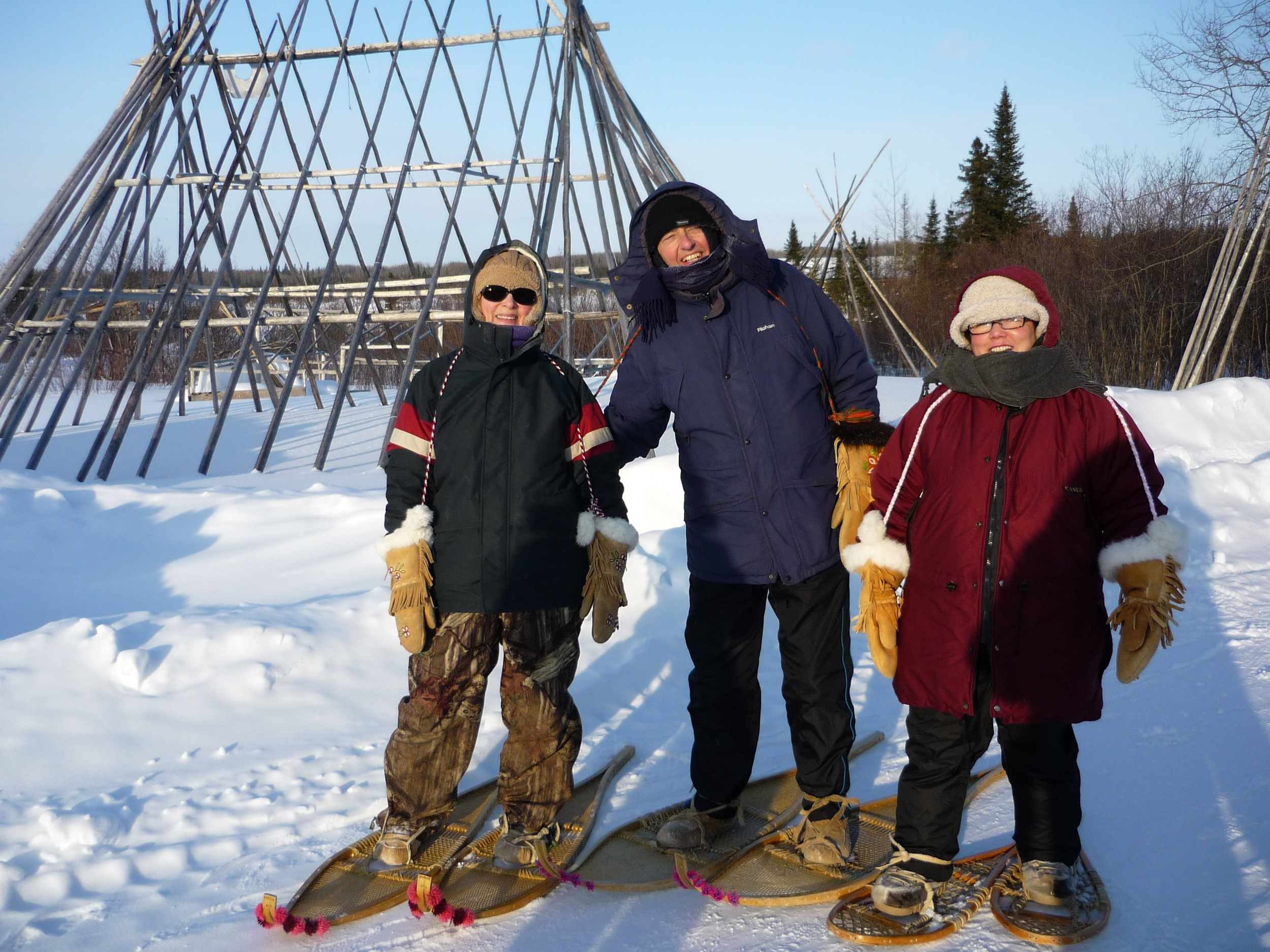 Snow-shoeing in Waskaganish, Canada