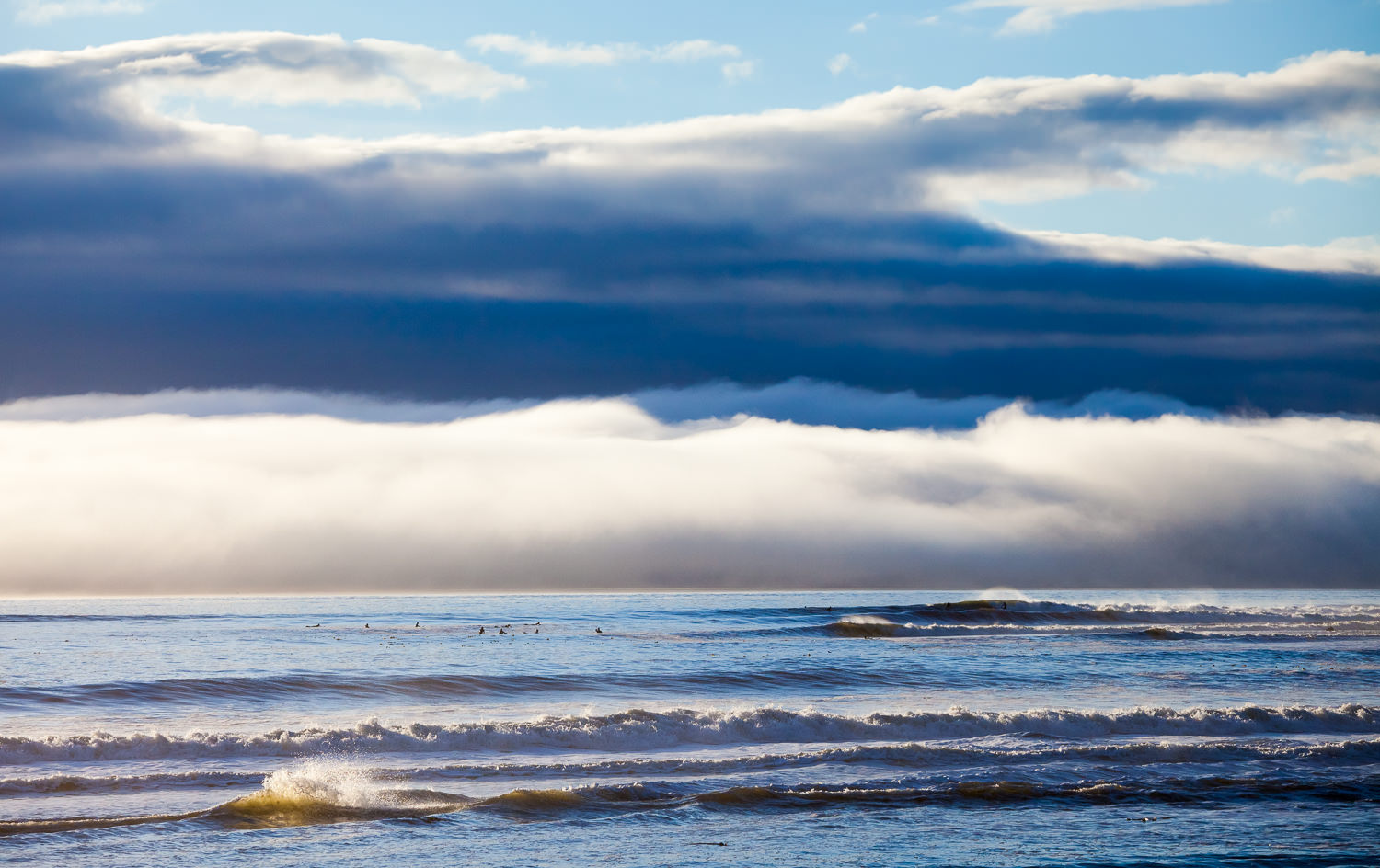 Waves wash across the ocean and the sky along the west coast of Vancouver Island. The patterns found in nature, from big to small, are something to marvel at.  Canon 5D MK2   70-200 f/4L IS   1/2000 sec   f/8   ISO 400.
