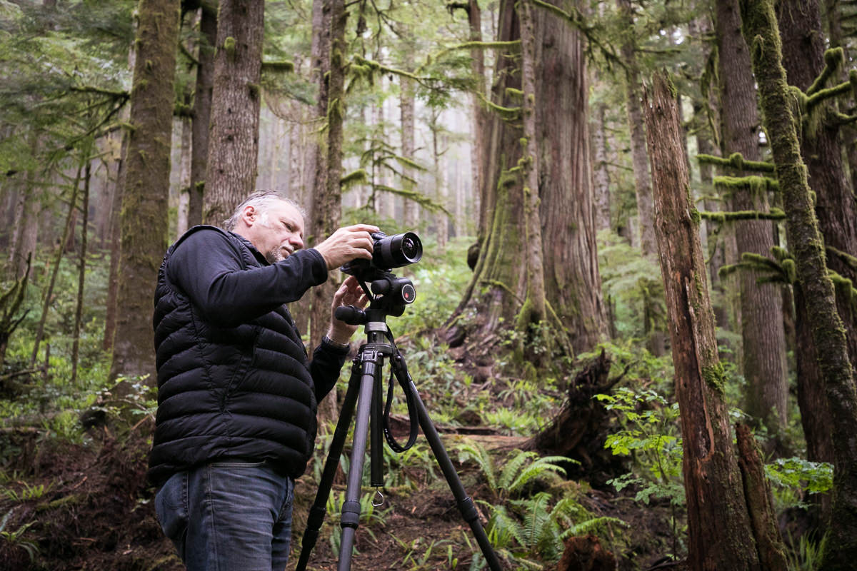 Edward Burtynsky shooting in Avatar Grove.