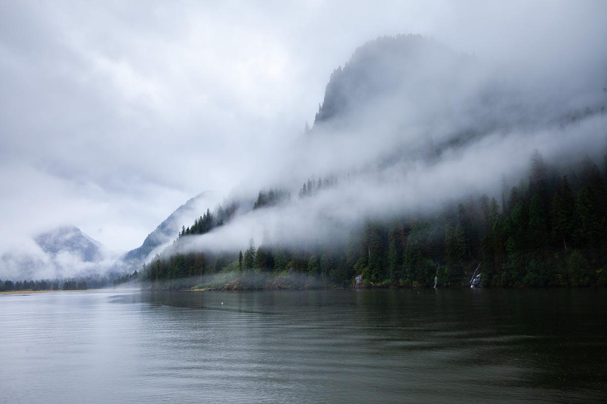 Mist over the Khutze River Inlet