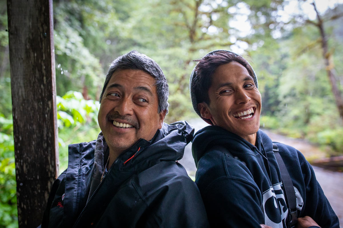 Garnet and Chris - awesome guides with Gitga'at Spirit Tours.