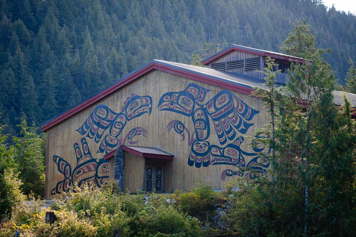 The Kitasoo/Xai'xais bighouse in Klemtu
