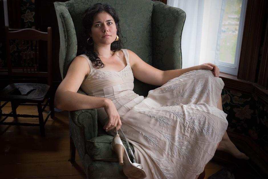 Sally Manikian seated