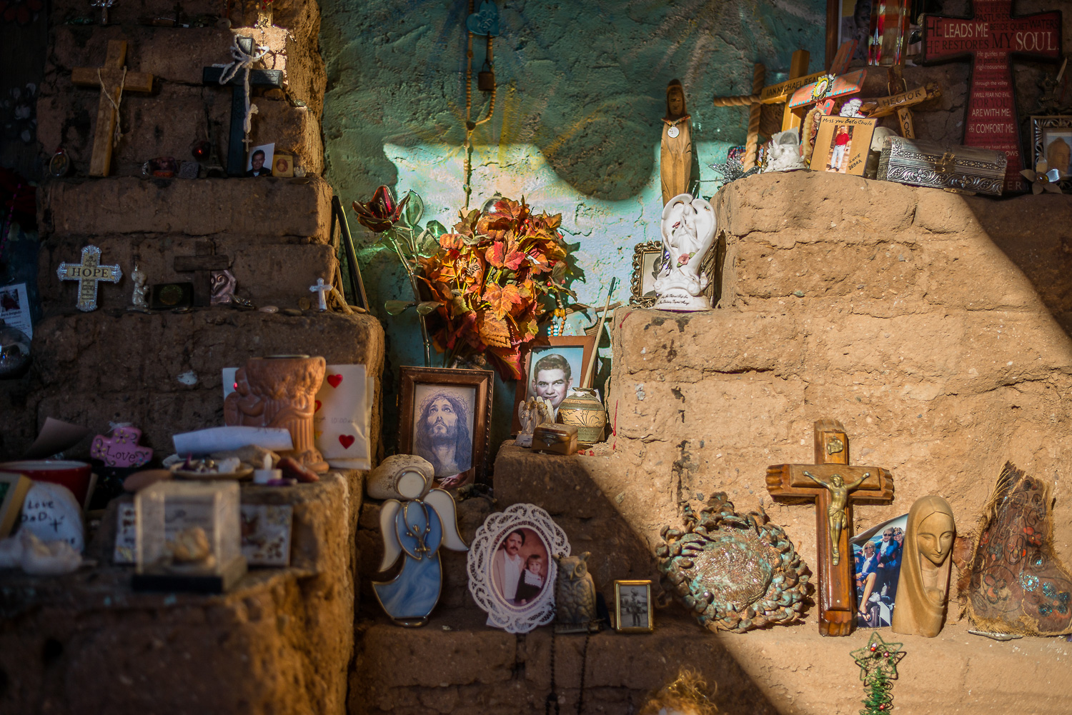 Our Lady of Guadalupe Altar [sunlit detail]. 2015.