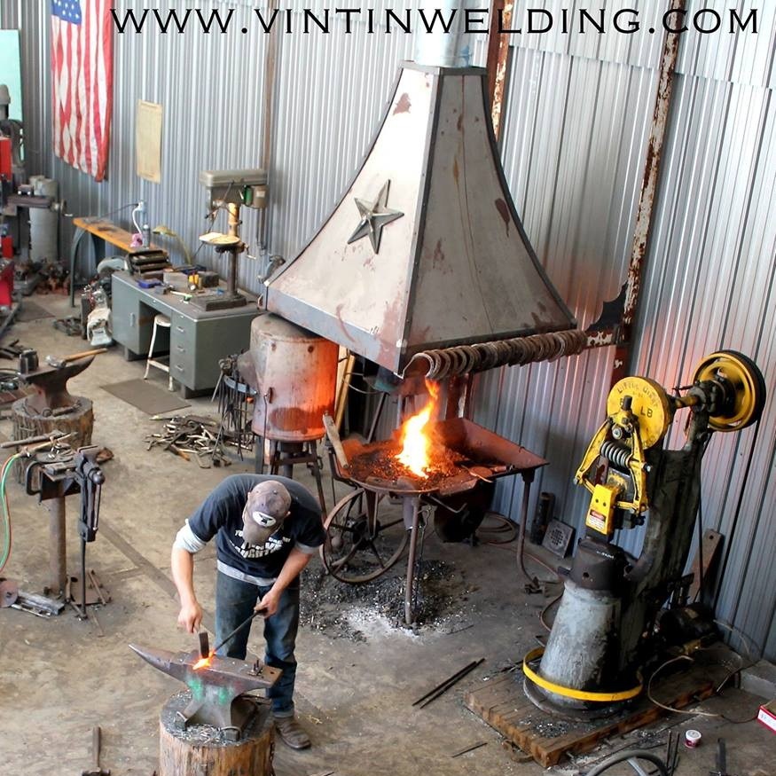 Trails and Trees Studio Tour 2019 - Blacksmith Open House November 2nd and 3rd at 10 am to 5 pm with TwisteDoughs' food trailer and a renowned bluegrass ensemble playing Sunday the 3rd from 2-4 pm.