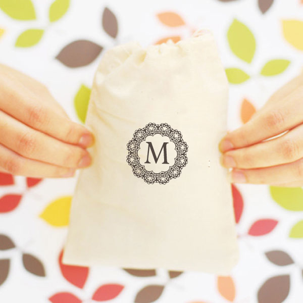 + view stampable muslin bags