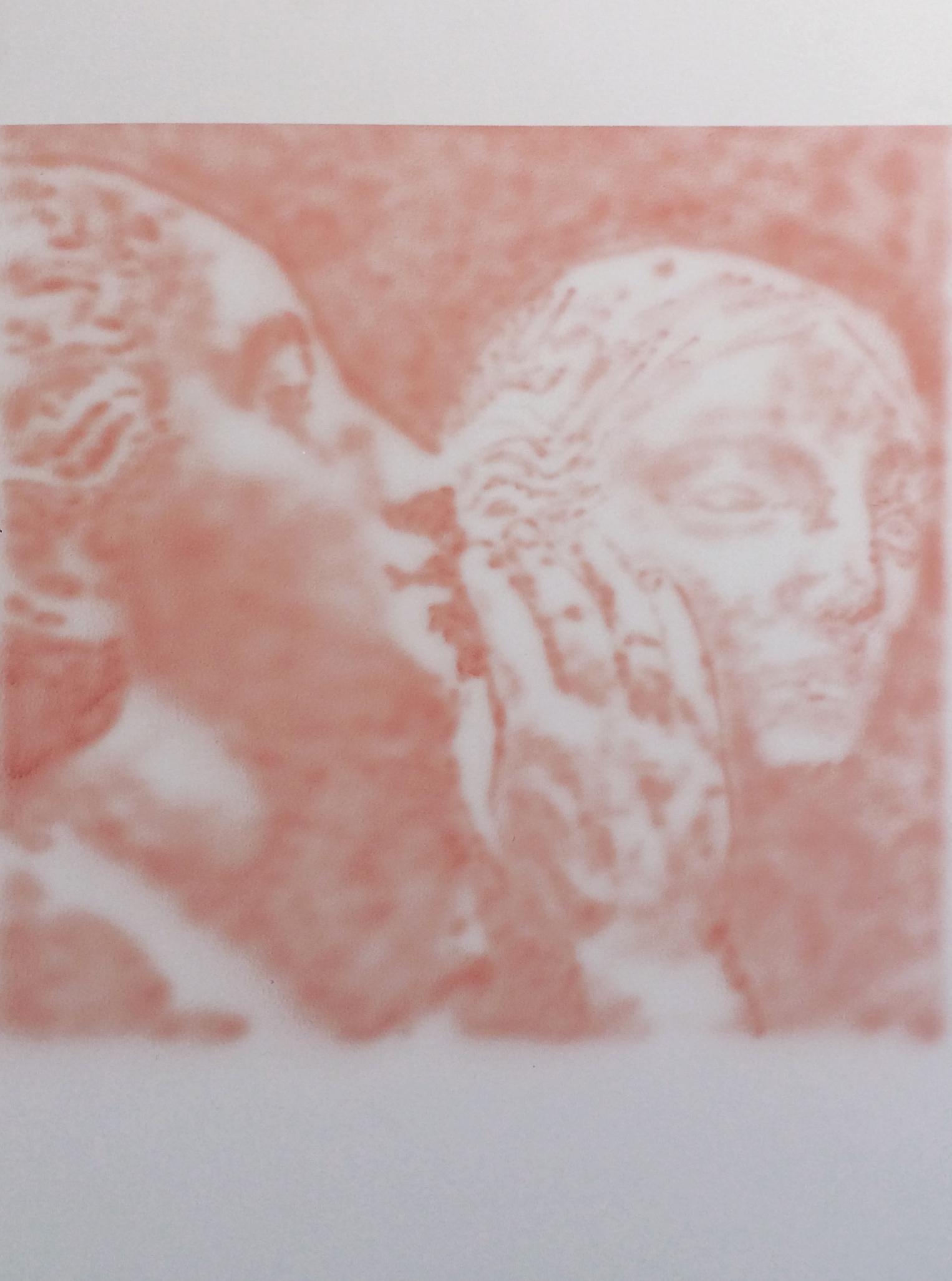 Daniel Long,  Concrete Turned to Stone , 2015, acrylic on panel, 48 x 35″