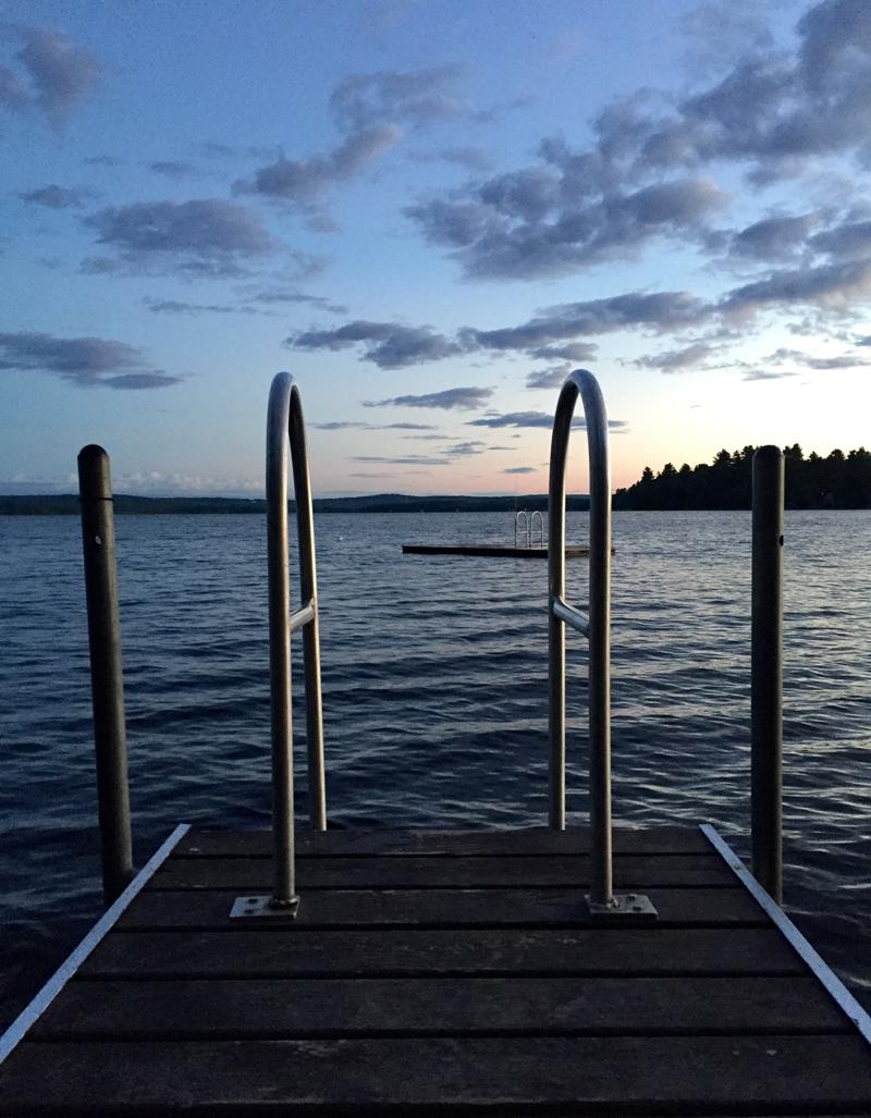 Lake Wesserunsett at sunrise