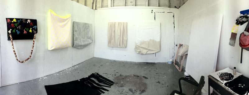 Sarah's studio at Skowgegan