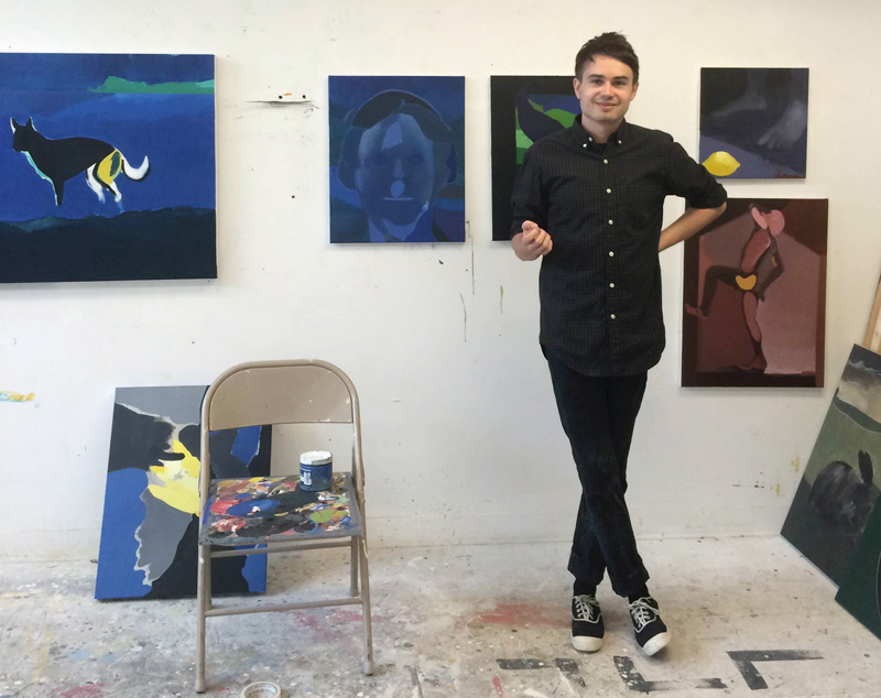 William in his studio at Virginia Commonwealth University in Richmond, VA