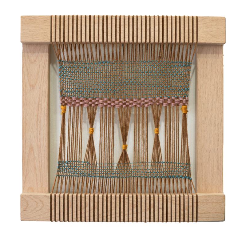 Brown Weaving on Loom
