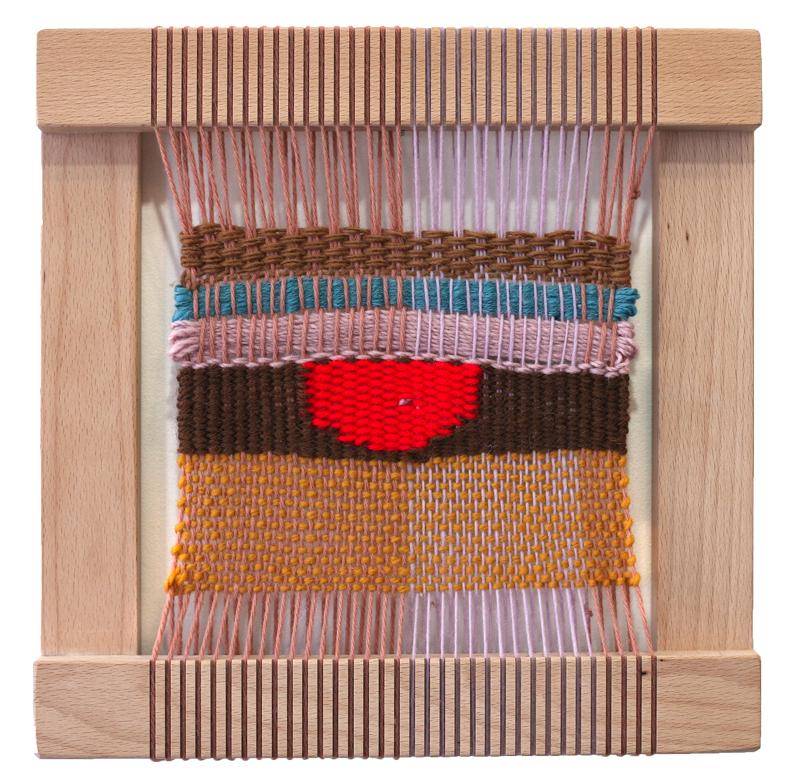 Mauve Weaving on Loom