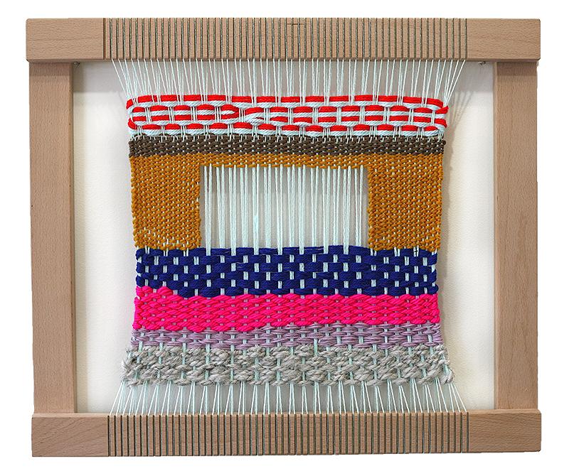 Mint Weaving on Loom