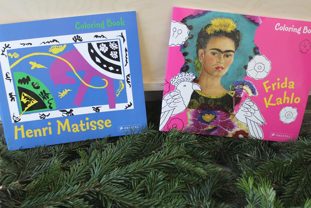 Henri Matisse and Frida Kahlo coloring books!