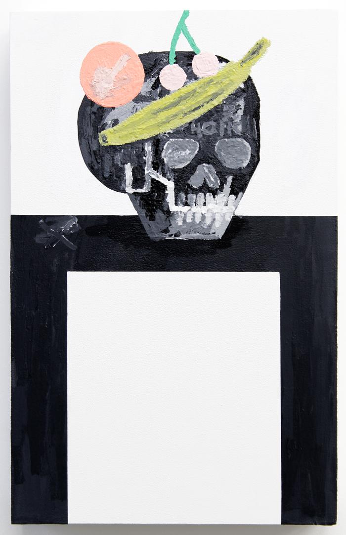 "Feast for the Eyes #1 , 2015, acrylic on wood, 22 x 14"""