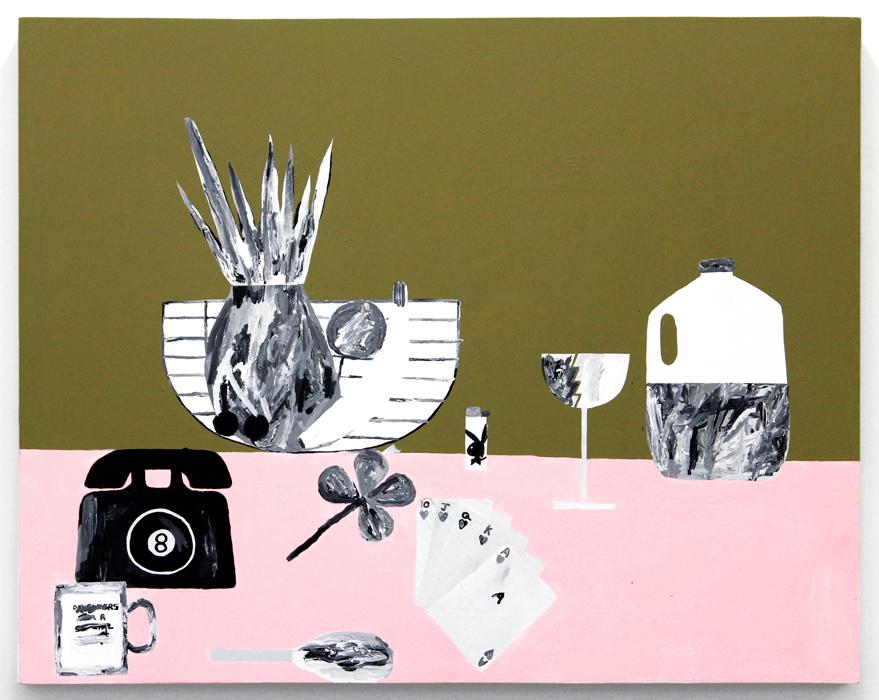 "Feast for the Eyes #2 , 2013, acrylic on wood, 38 x 48"""
