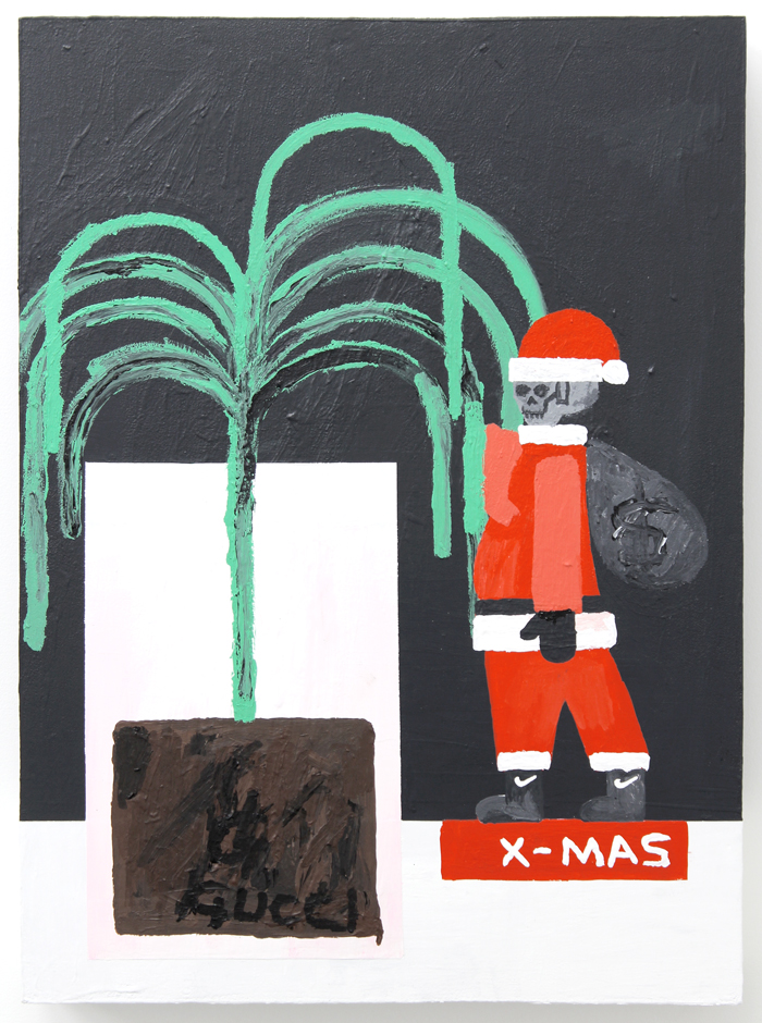 "Gucci X-Mas , 2015, acrylic on wood, 24.25 x 17.75"""