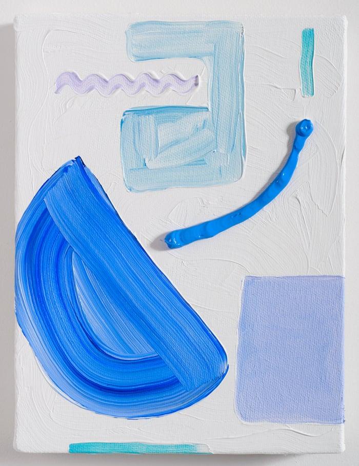 "Swim Lesson ,2015,oil on canvas,8 x 6"""