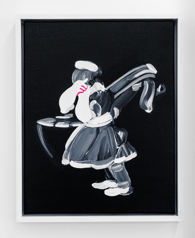 """El de la rollona (Mama's Boy // After Goya) ,2016, acrylic on canvas,14 x 11"""""""
