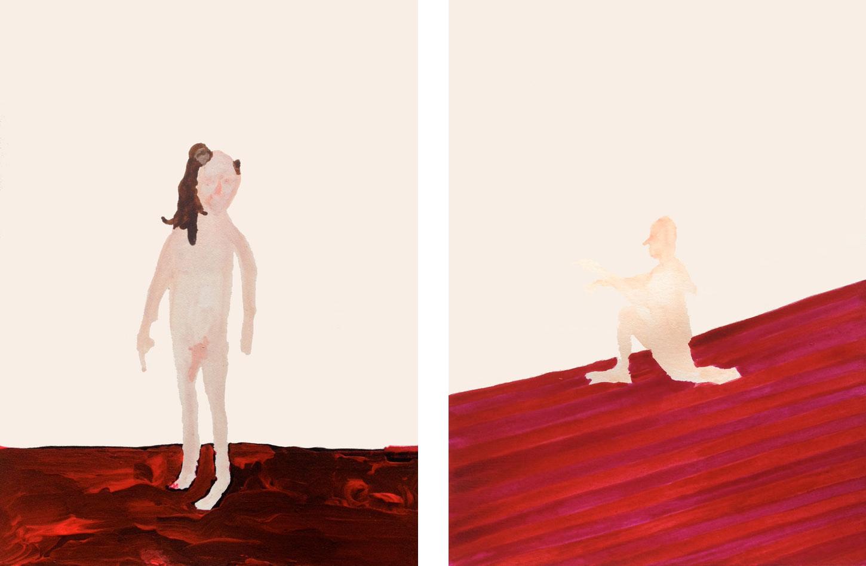 Man with Monkey  (L) &  Spanker  (R) from   JKJKJK  , 2012