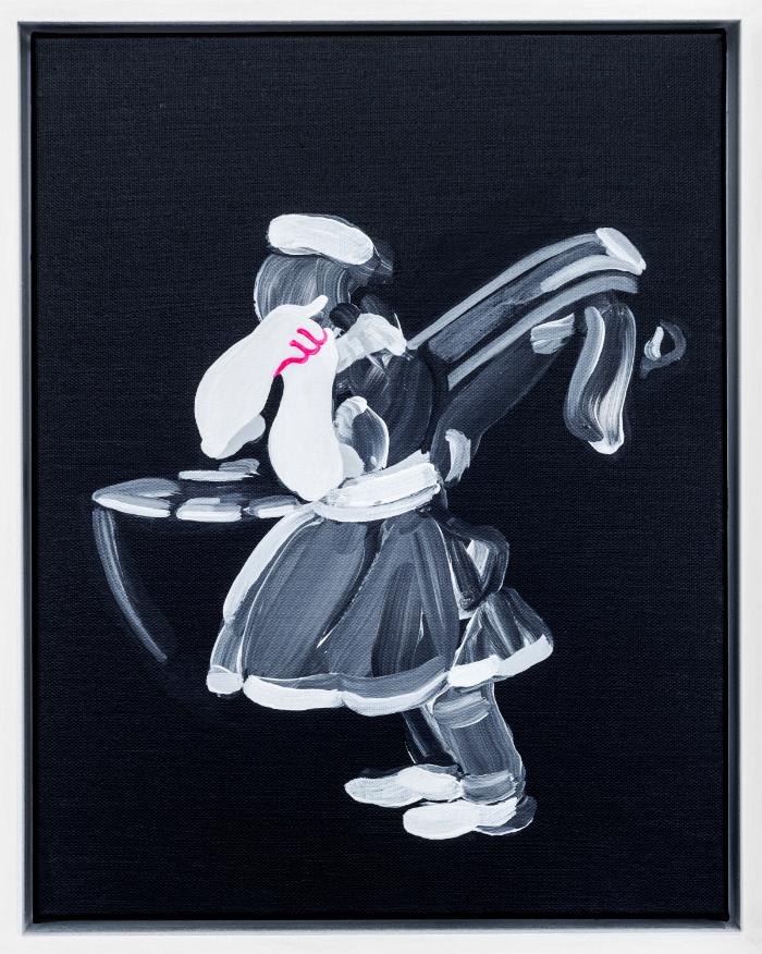 """El de la rollona (Mama's Boy // After Goya),  2016, acrylic on canvas, 10 x 8"""""""