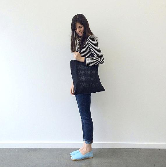 Tote bag by MODERNWOMEN LA, modeled by Emma